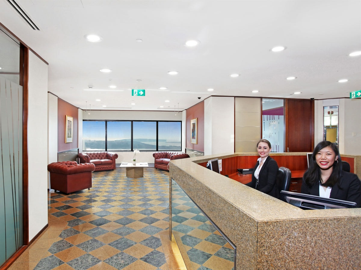 Servcorp serviced virtual offices on level 26 44 market for 181 st georges terrace perth