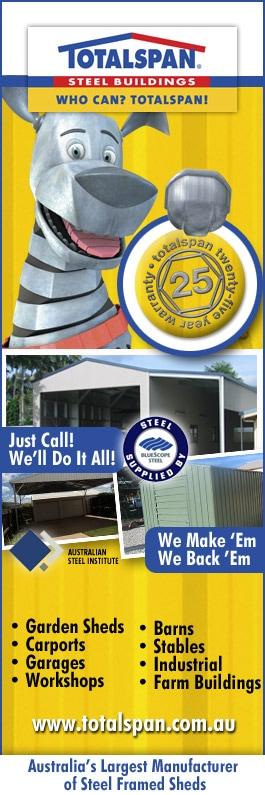 Totalspan Townsville Rural Industrial Sheds Wulguru