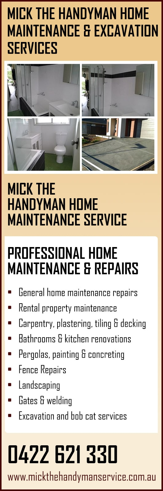 Bathroom Renovations Melton mick the handyman home maintenance service - home maintenance