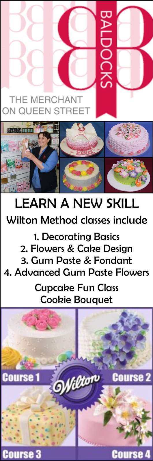 Baldocks cake decorators decorating classes 63 queen st adelaide baldocks promotion junglespirit Images