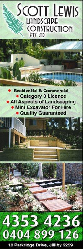 Scott Lewis Landscape Construction Pty Ltd Landscaping Landscape Design Jilliby