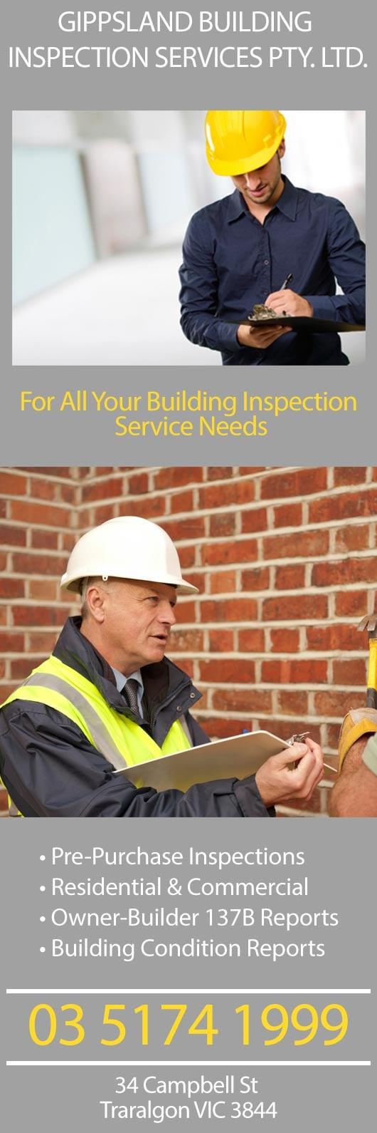 Building Inspection Services : Gippsland building inspection services pty ltd