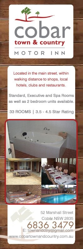Cobar town country motor inn motels 52 marshall st for Town country motors