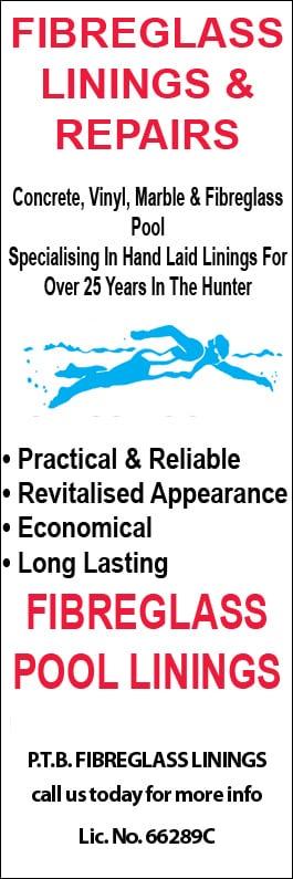 P T B  Fibreglass Linings Pty Ltd - Swimming Pool Maintenance