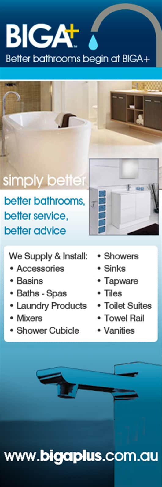 BIGA Plus Penrith - Bathroom Accessories & Equipment - 127 Batt St ...