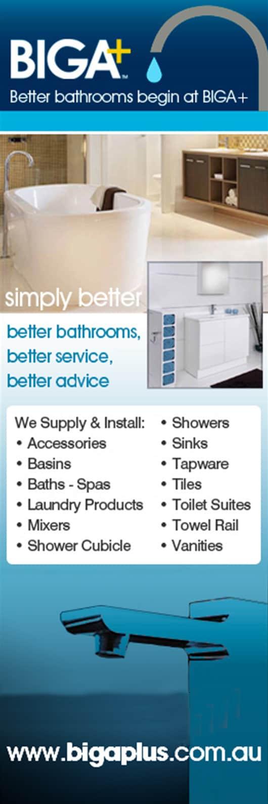 Bathroom Renovations Tweed Heads biga plus tweed heads south - bathroom accessories & equipment - 9