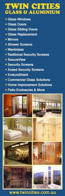 Twin Cities Glass & Aluminium - Security Doors, Windows & Equipment