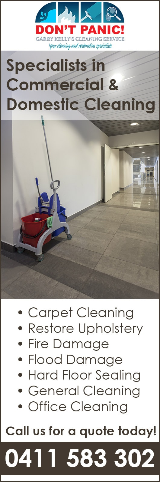 Garry Kelly's Cleaning Service - Commercial & Industrial