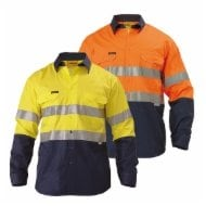 Bisley Hi Vis 2 Tone Long Sleeve Shirt with 3M Tape