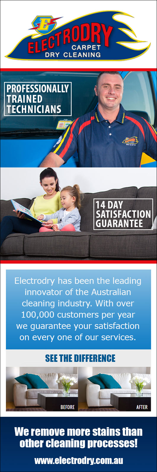 Electrodry carpet dry cleaning promotion