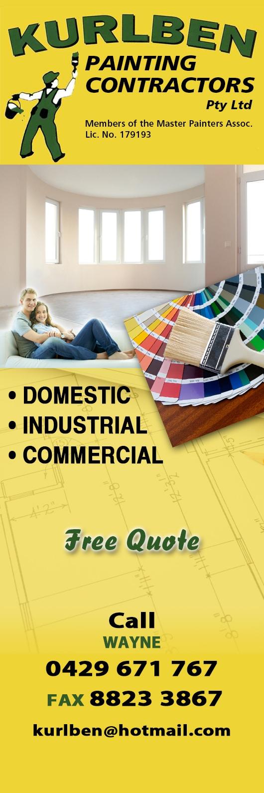 Kurlben Painting Contractors Pty Ltd - Painters & Decorators - Kadina
