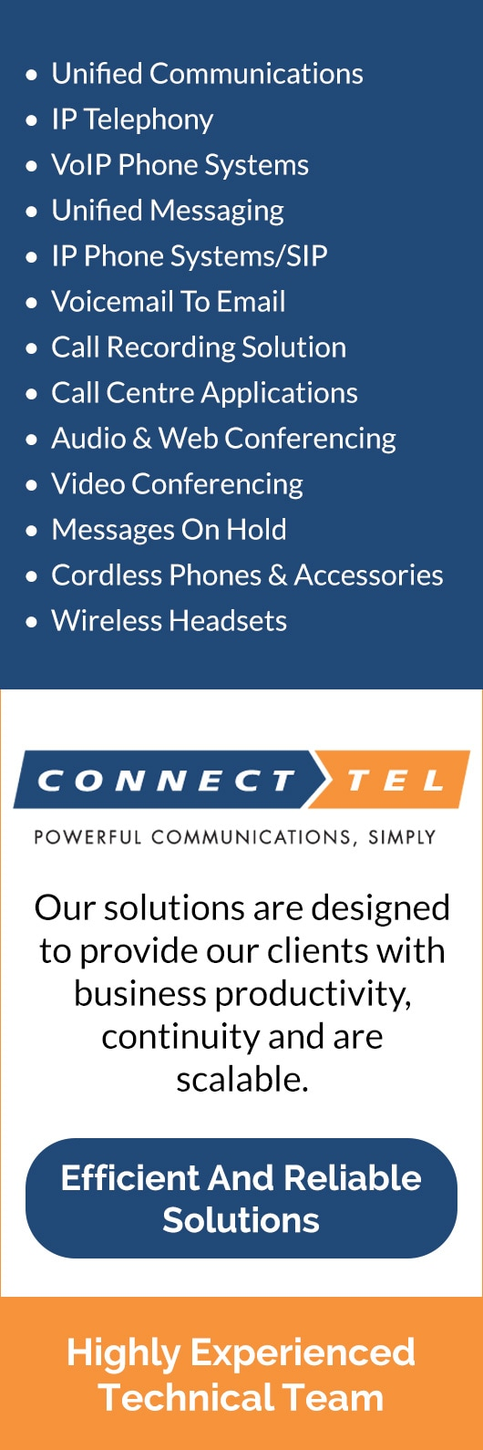 Connect Tel Business Communication Solutions - Telephone
