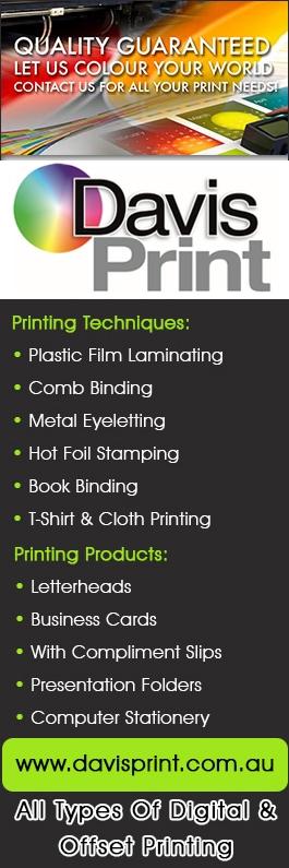 E davis sons pty ltd printers printing services 112 percy e davis sons pty ltd promotion reheart Gallery
