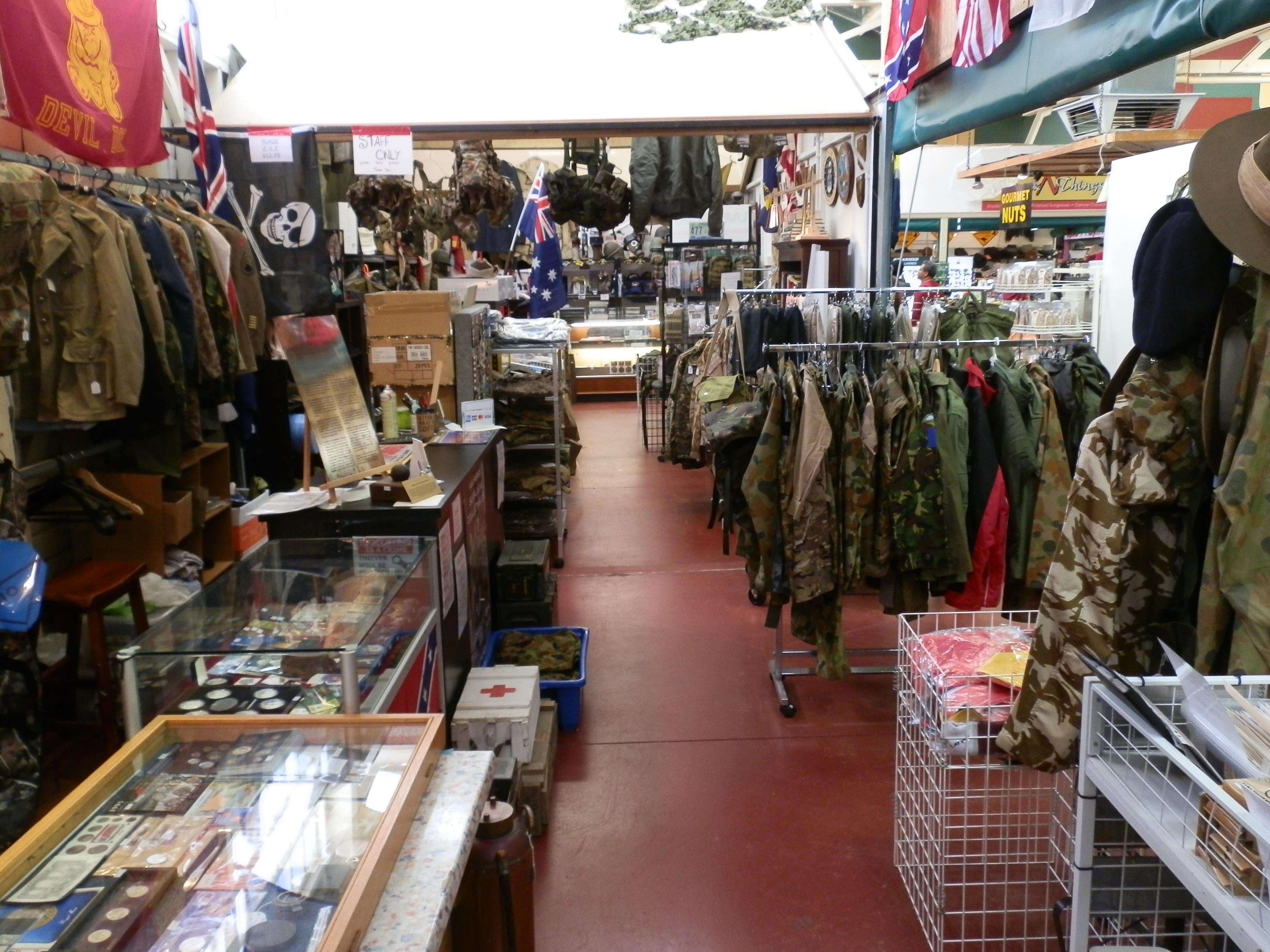 aaa army surplus collectables disposal stores e shed market