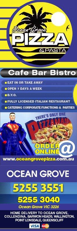 Ocean grove pizza pasta restaurants ocean grove for 97 the terrace ocean grove