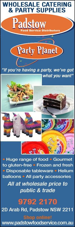 Padstow Food Service Distributors - Party Supplies - 2D Arab Rd