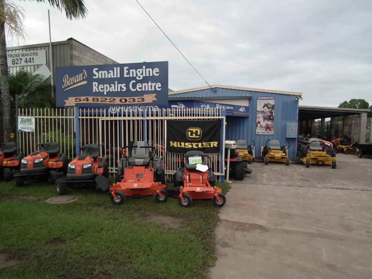Bevan 39 s small engine lawn mowers repair centre lawn for Small motor repair shop
