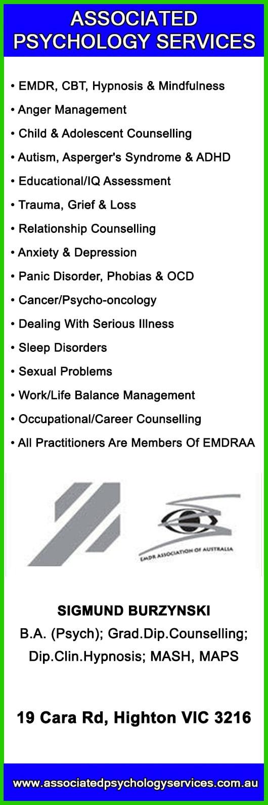 Associated Psychology Services - Psychologist - 19 Cara Rd