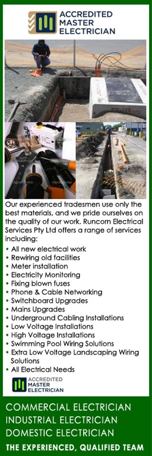 Runcorn Electrical Services Pty Ltd - Electricians & Electrical ...