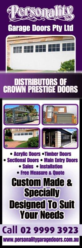 Personality Garage Doors - Promotion  sc 1 st  Yellow Pages & Personality Garage Doors - Garage Doors \u0026 Fittings - Mona Vale