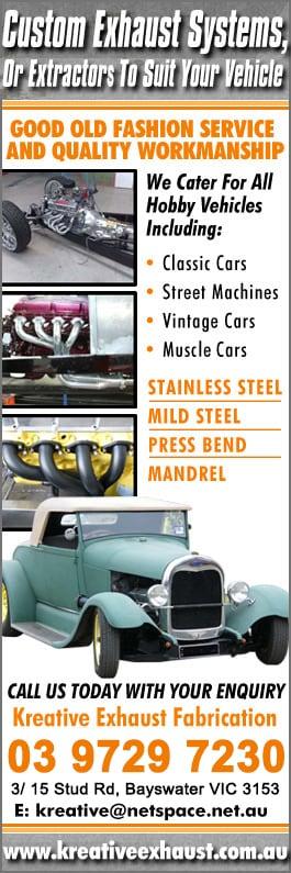 Kreative Exhaust Fabrication - Car Restoration - 3/ 15 Stud