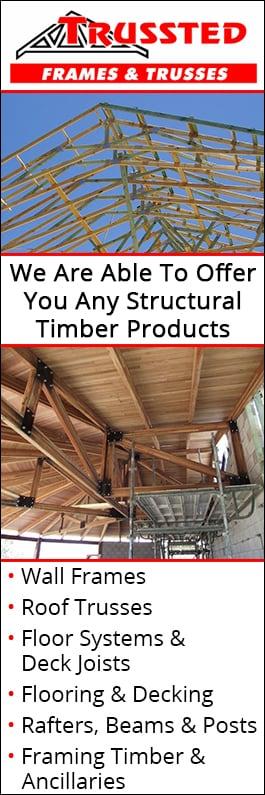 Trussted Frames Amp Trusses Roof Trusses Amp Wall Frames