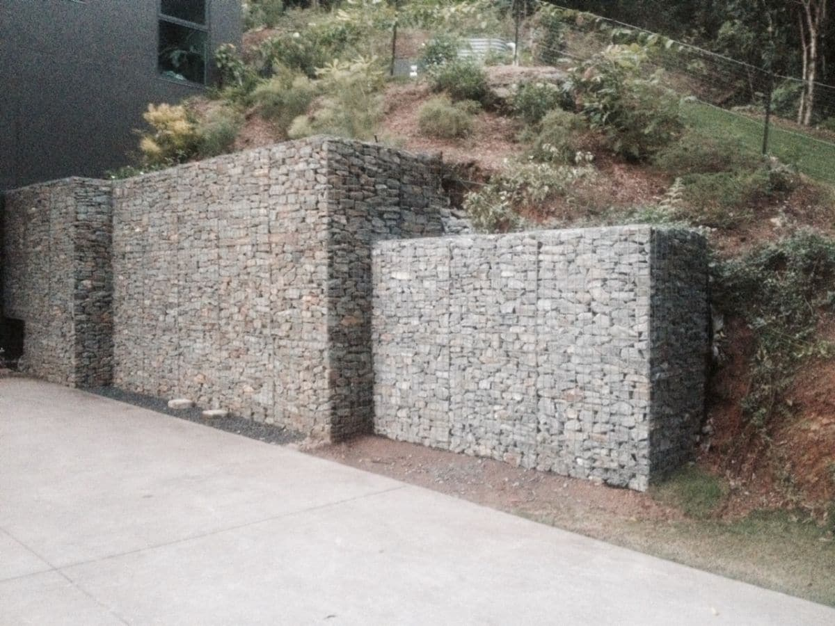 Rock Gabion Retaining Wall - Rigid Weld Mesh