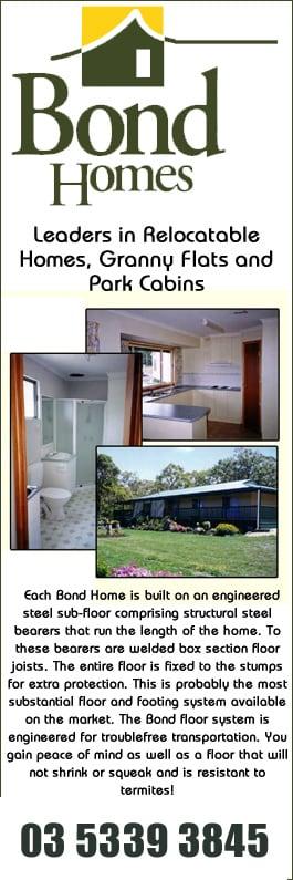 Bond Homes Buildings Prefabricated Transportable Domestic