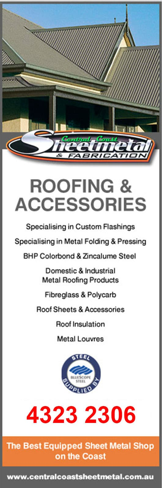 Central Coast Sheet Metal Fabrication Roofing Materials 15 Tatura Ave Gosford