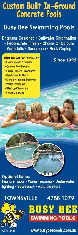 Busy bee swimming pools swimming pool designs - Concrete swimming pool repairs brisbane ...