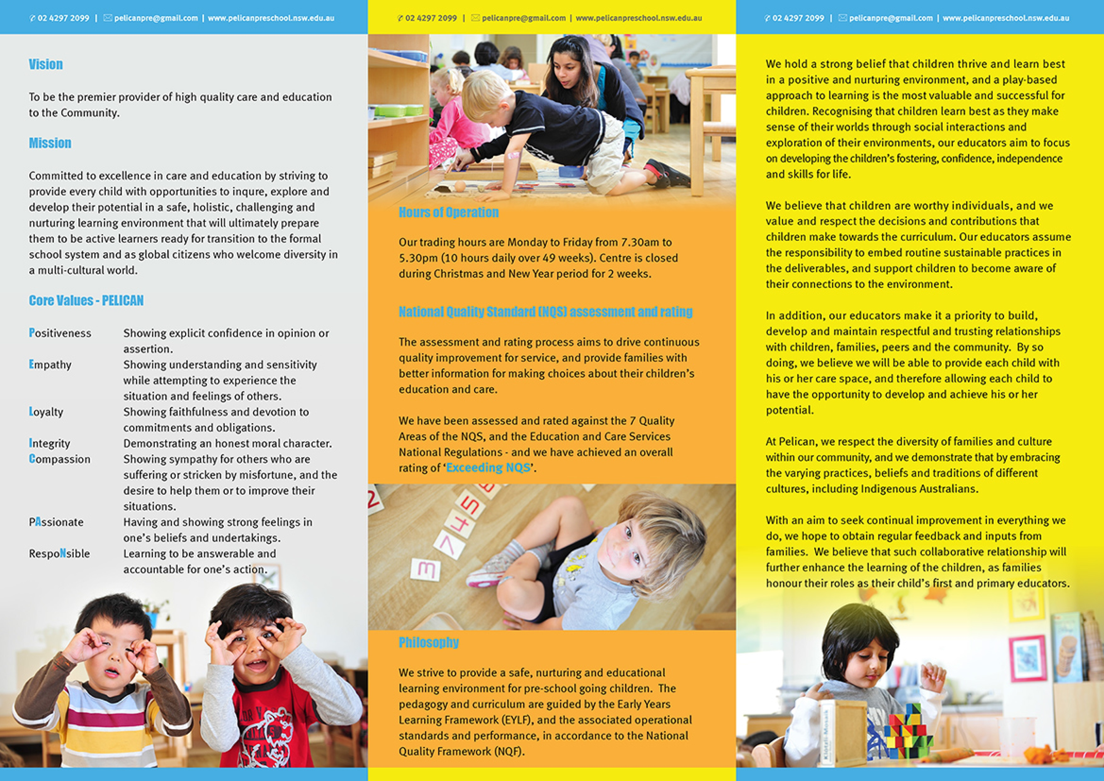 pelican pre school long day care child care centres 30 32 view pdf