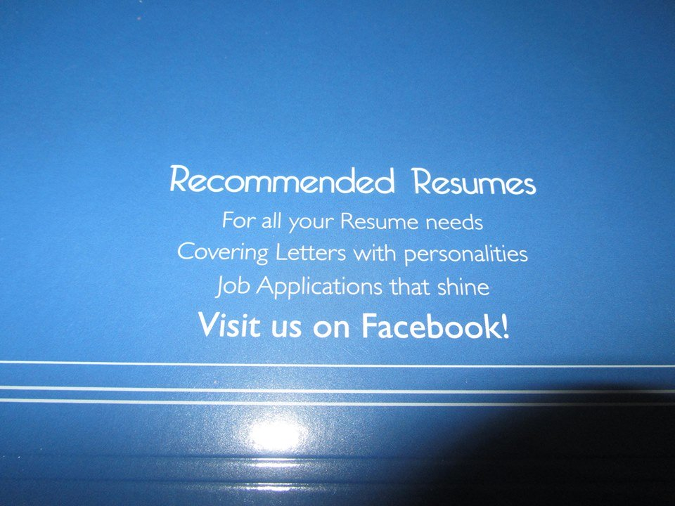 For All Your Resume Needs; Covering Letters With Personality; Job  Applications That Shine! Visit Us On Facebook!