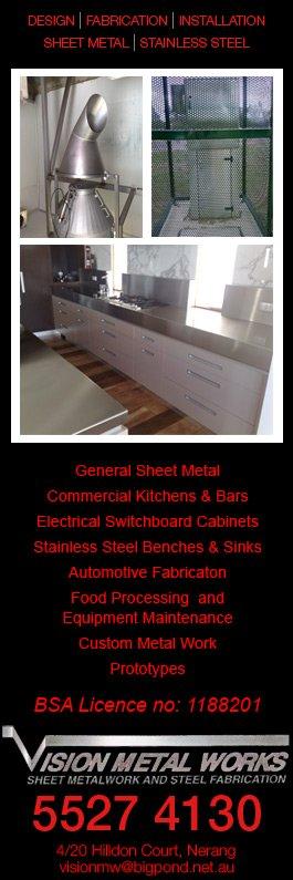 Vision Metal Works - Sheet Metal Fabricators - 4/ 20 Hilldon Ct - Nerang