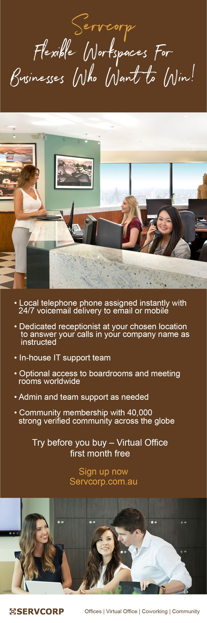 Servcorp Serviced Virtual Offices Telephone Answering Services