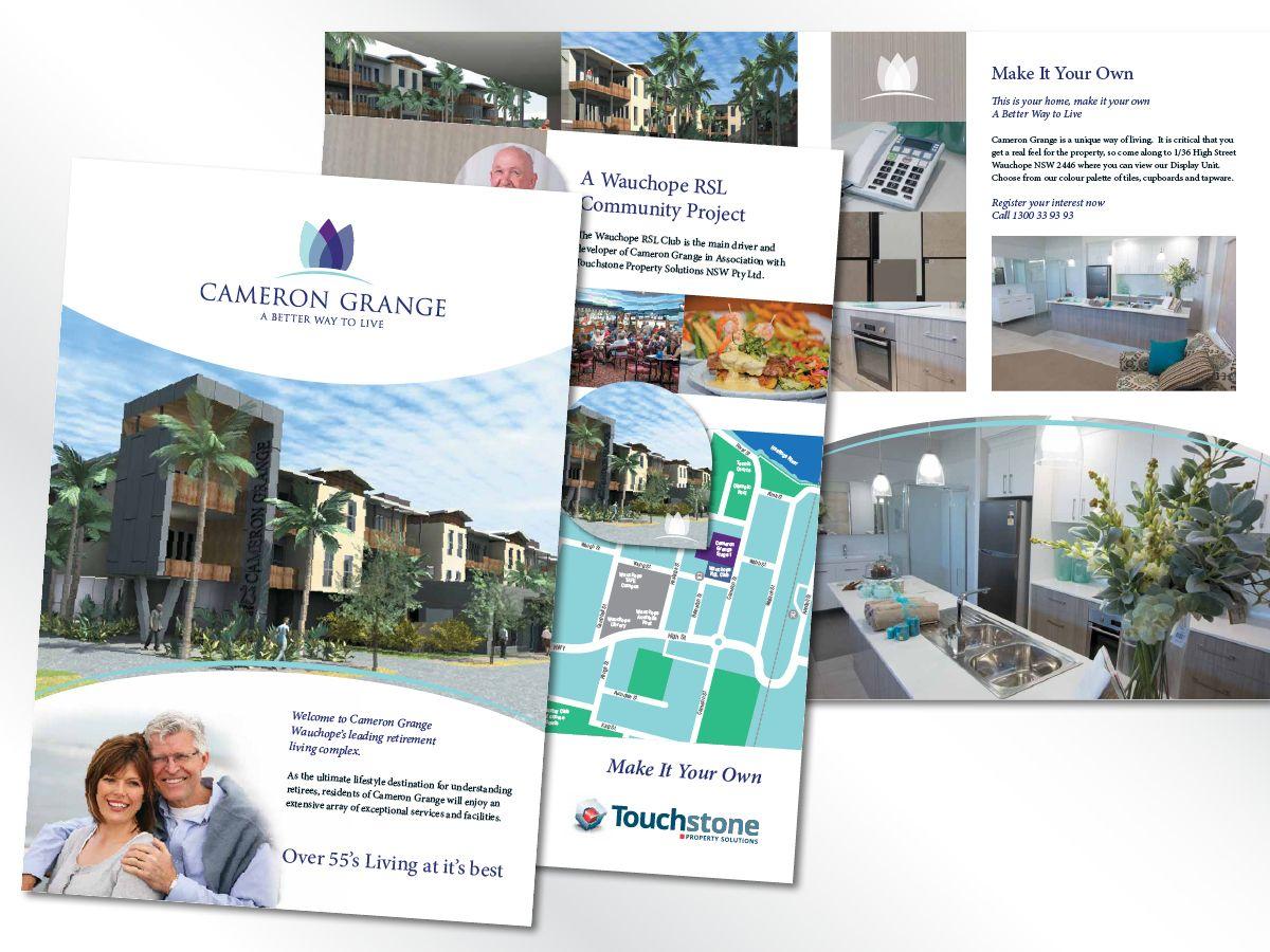 Client Brief Stylish Brochure And Presentation Folder For Wauchope Luxury Retirement Resort Development