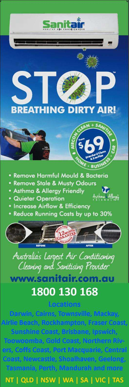 sanitair air conditioning cleaning sanitising air sanitair air conditioning cleaning sanitising promotion