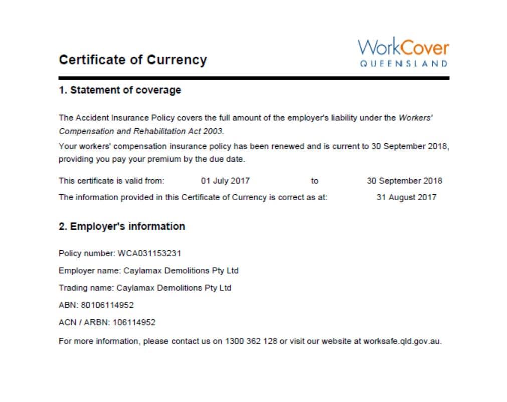 Safe Work Method Statements Templates Vita Resume Template Caylamax  Demolitions Pty Ltd Lawnton 4501 Thumbnail Safe