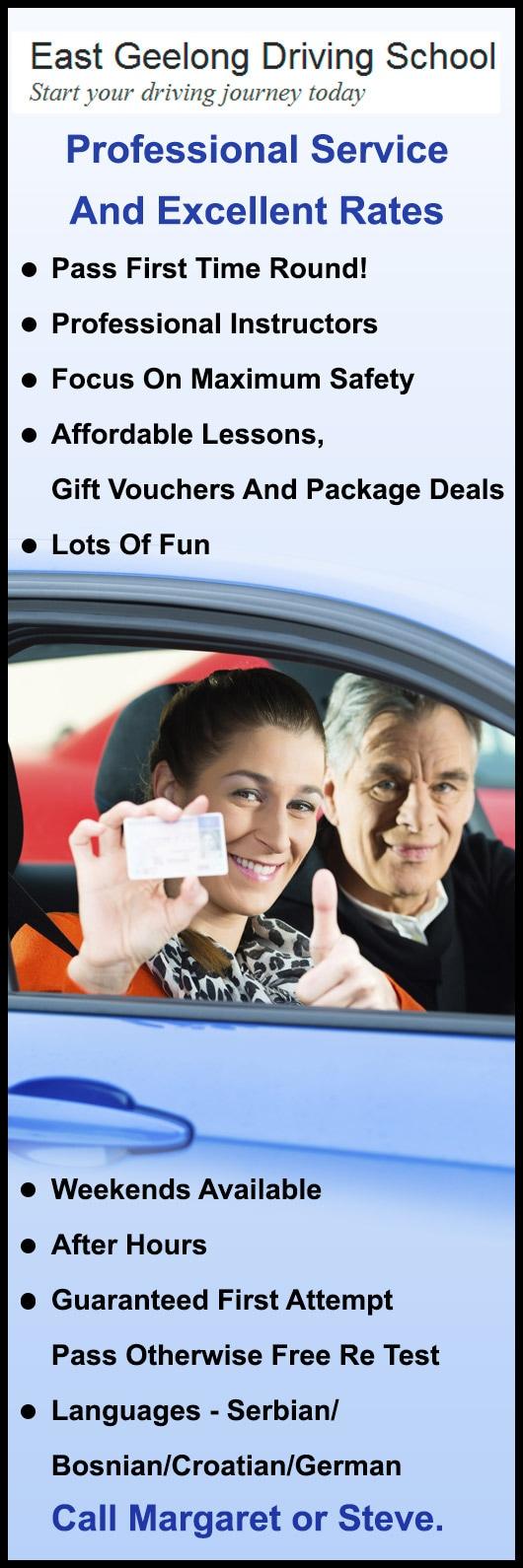 East Geelong Driving School - Driving Lessons & Schools - East Geelong