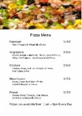 All day Pizza Menu