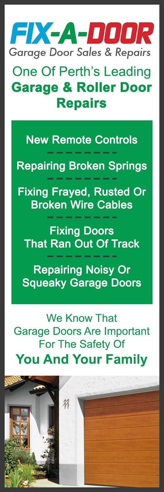 Fix A Door Garage Door Repairs Perth Garage Doors Fittings Perth