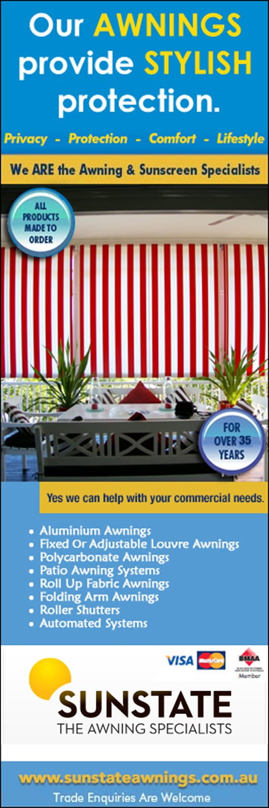 Sunstate Awnings - Awnings - 31 Lensworth St - Coopers Plains