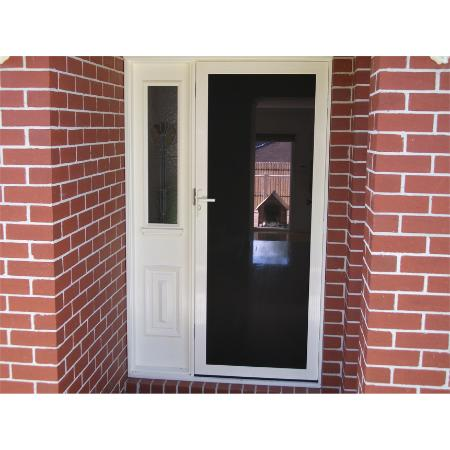 Clearshield perforated stainless steel security entry doors perfect for your feature front door ...