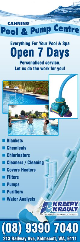 Canning pool pump centre swimming pool maintenance for Swimming maintenance
