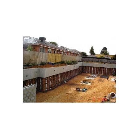 basement construction services pile driving contractors equipment