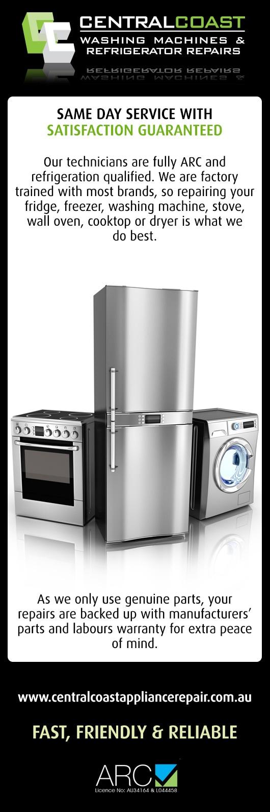 Kitchen Appliance Repairs Central Coast Washing Machines Refrigerator Repairs Washing
