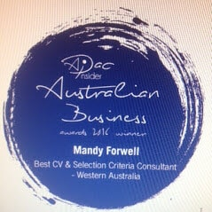 mandy forwell cv selection criteria consultant resume writing