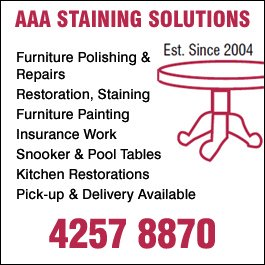 AAA Staining Solutions - Furniture Restoration & Repairs