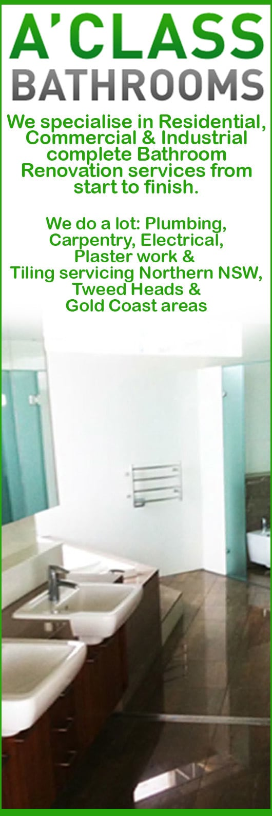 Bathroom Renovations Tweed Heads a'class bathrooms pty ltd - bathroom renovations & designs - tweed