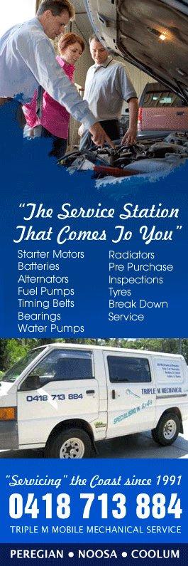 Triple M Mobile Mechanical Service Mechanics Motor Engineers