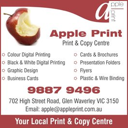 Apple print the print copy centre printers printing apple print the print copy centre promotion reheart Image collections